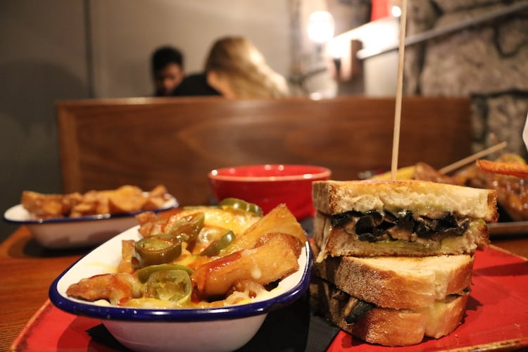 The Raven Glasgow grilled cheese sandwich