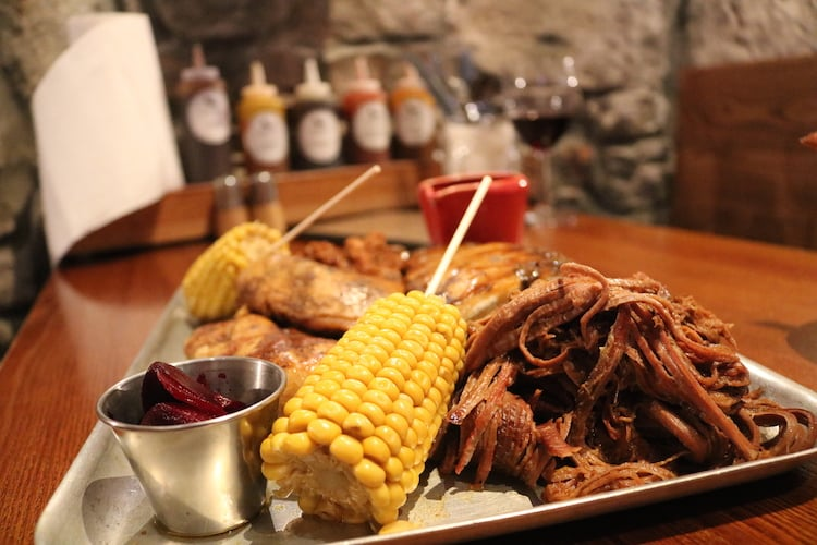 The Raven Glasgow meat platter