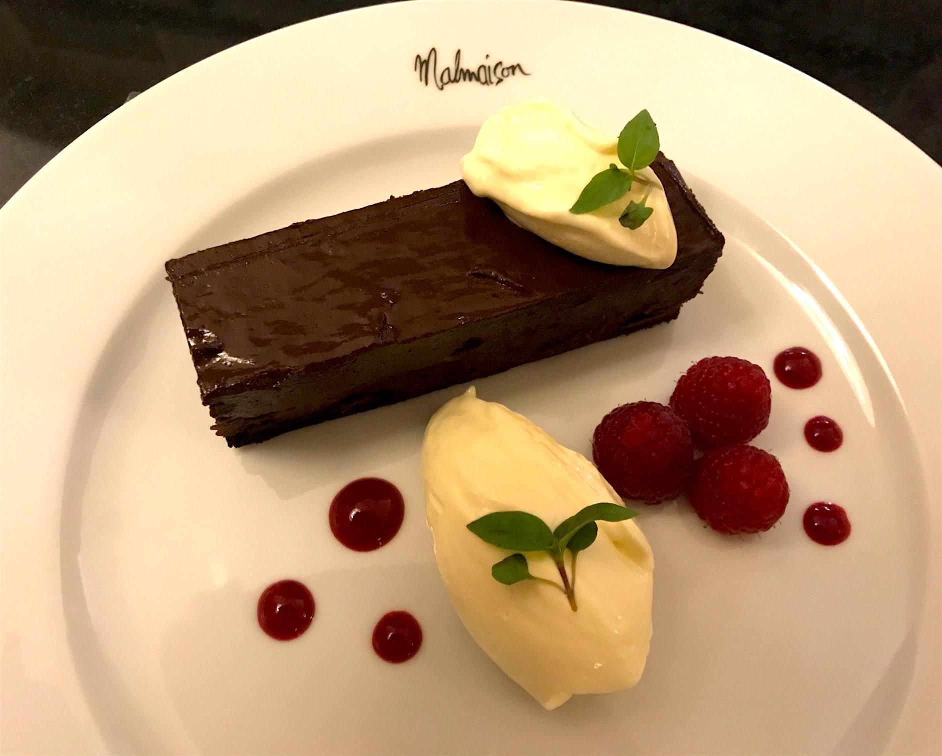 Chocolate torte at Chez Mal